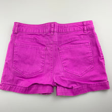 Load image into Gallery viewer, Girls Miss Understood, purple stretch cotton shorts, adjustable, GUC, size 12