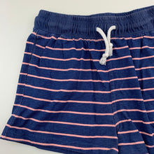 Load image into Gallery viewer, Girls Miss Understood, blue & pink stripe cotton shorts, GUC, size 12