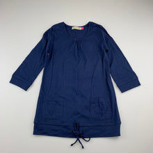 Load image into Gallery viewer, Girls Lily & Dan, navy cotton long sleeve casual dress, GUC, size 3