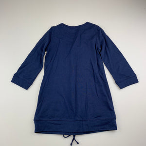 Girls Lily & Dan, navy cotton long sleeve casual dress, GUC, size 3