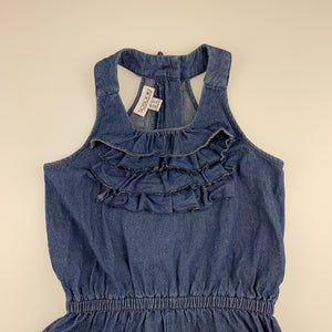 Girls So Sooki, blue denim summer playsuit, GUC, size 4