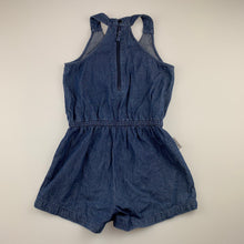 Load image into Gallery viewer, Girls So Sooki, blue denim summer playsuit, GUC, size 4