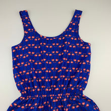 Load image into Gallery viewer, Girls New Look, lightweight summer playsuit, flamingos, EUC, size 10-11