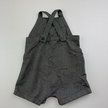 Load image into Gallery viewer, Boys Seed Baby, grey cotton overalls / shortalls, EUC, size 00