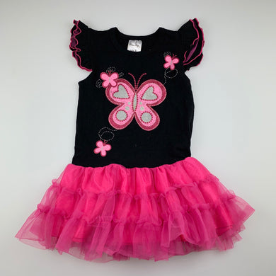 Girls Blue Sky, black & pink tutu party dress, GUC, size 3