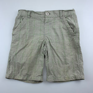 Boys H+T, checked cotton shorts, adjustable, FUC, size 4