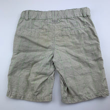 Load image into Gallery viewer, Boys H+T, checked cotton shorts, adjustable, FUC, size 4