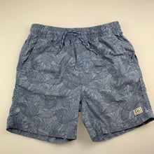 Load image into Gallery viewer, Boys Target, blue cotton swim shorts, elasticated, GUC, size 14