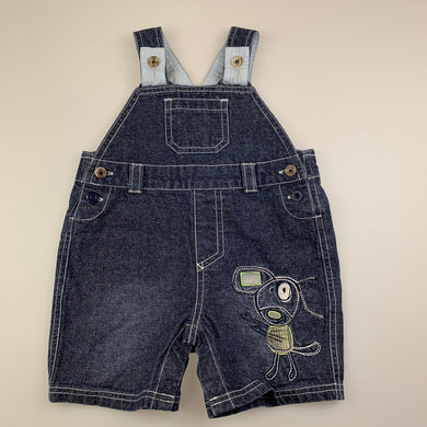 Boys Baby Biz, dark denim overalls / shortalls, GUC, size 00