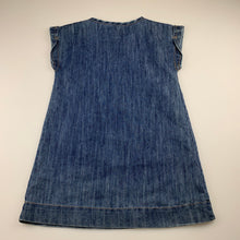Load image into Gallery viewer, Girls Target, blue denim dress, embroidered, GUC, size 6
