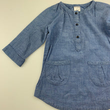 Load image into Gallery viewer, Girls Target, blue chambray cotton long sleeve dress, GUC, size 1
