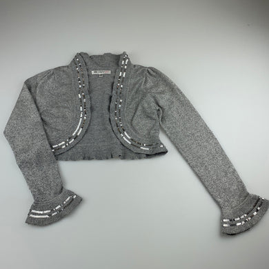 Girls Autograph M&S, grey / silver soft feel bolero cardigan, GUC, size 7-8