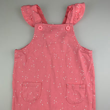 Load image into Gallery viewer, Girls Target, pink soft cotton overalls / playsuit, EUC, size 0