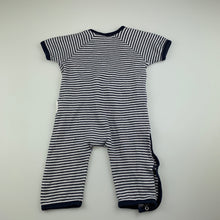 Load image into Gallery viewer, Unisex purebaby, soft organic cotton romper, GUC, size 00