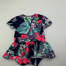 Load image into Gallery viewer, Girls Bonds, floral romper dress, EUC, size 00