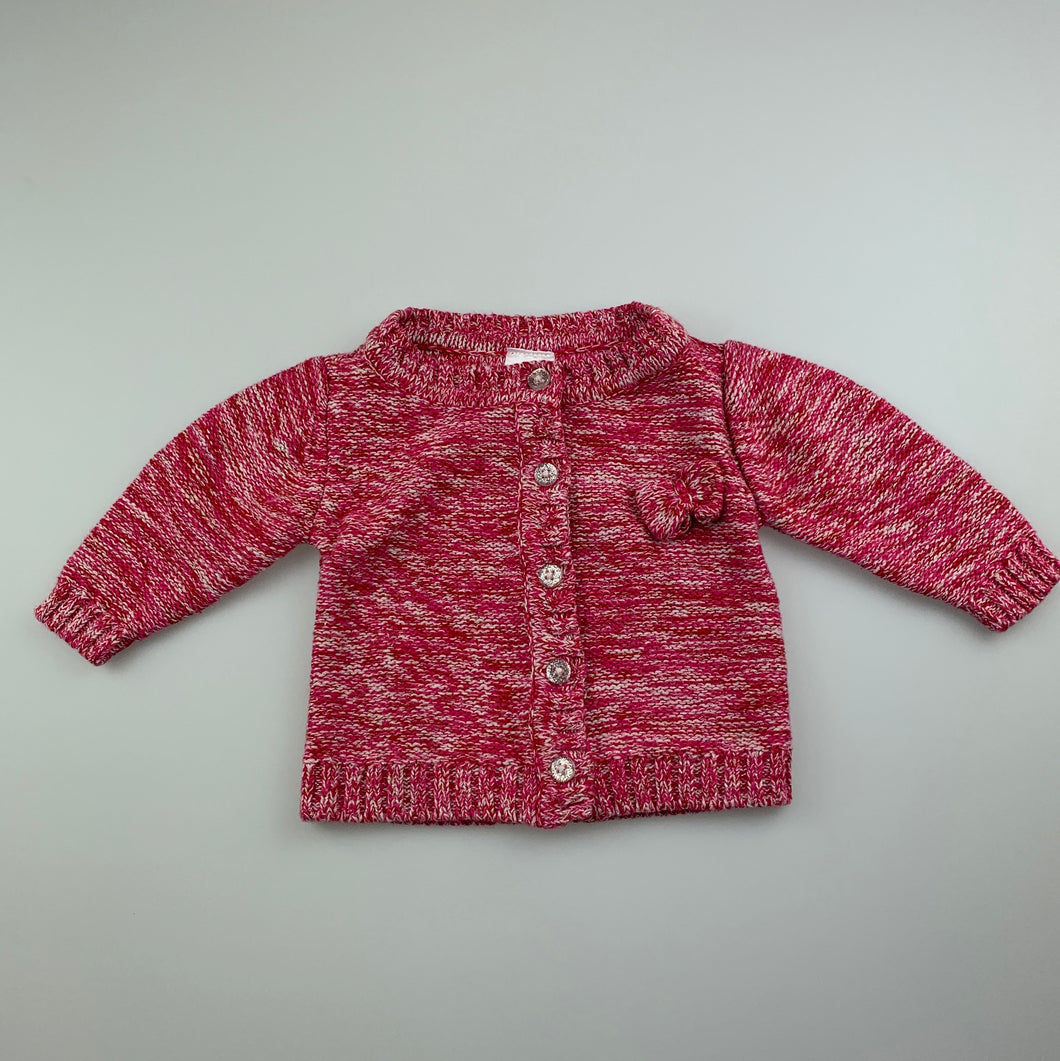 Girls Tiny Little Wonders, bright knit cardigan, GUC, size 000