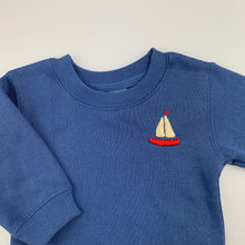 Load image into Gallery viewer, Boys Match It, blue fleece lined sweater / jumper, GUC, size 000