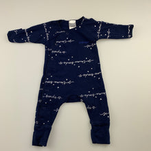 Load image into Gallery viewer, Unisex Bonds, navy cozisuit / coverall / romper, GUC, size 00000