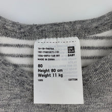 Load image into Gallery viewer, Boys Uniqlo, soft cotton long sleeve t-shirt / top, GUC, size 1