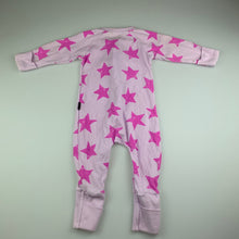 Load image into Gallery viewer, Girls Bonds, pink zip wondersuit / zippy / romper, GUC, size 00