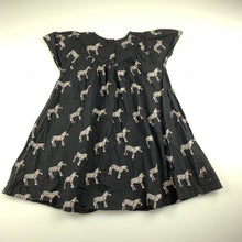 Load image into Gallery viewer, Girls Next, black cotton casual dress, zebras, GUC, size 2-3