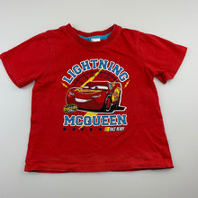 Load image into Gallery viewer, Boys Disney, Cars, Lightning McQueen cotton t-shirt / top, FUC, size 3