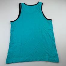 Load image into Gallery viewer, Boys Urban Supply, turquoise cotton tank top / singlet, FUC, size 10