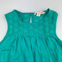 Load image into Gallery viewer, Girls Country Road, green lightweight cotton tank top, EUC, size 5