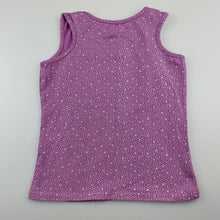 Load image into Gallery viewer, Girls Let's Dance, purple stretchy tank top / t-shirt, GUC, size 4