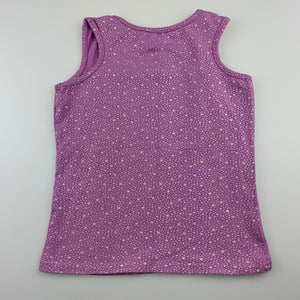 Girls Let's Dance, purple stretchy tank top / t-shirt, GUC, size 4