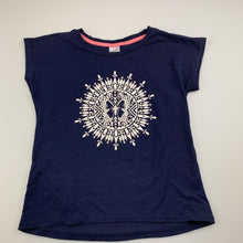 Load image into Gallery viewer, Girls Target, navy cotton t-shirt / top, butterfly, EUC, size 7