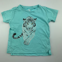 Load image into Gallery viewer, Unisex Cotton On, blue cotton t-shirt / top, tiger, GUC, size 3