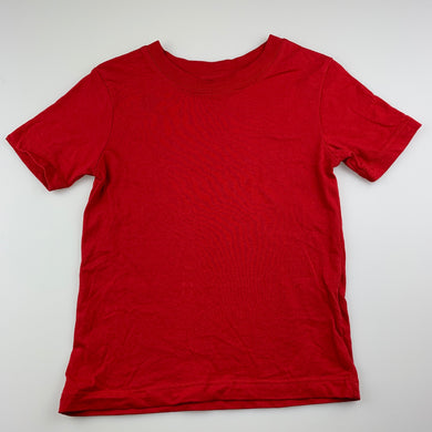 Unisex B&L, red organic cotton school t-shirt, EUC, size 4