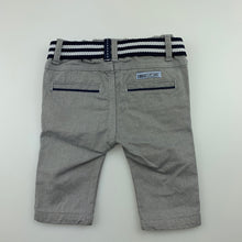 Load image into Gallery viewer, Boys Chicco, cute grey cotton chino pants, adjustable, EUC, size 0000