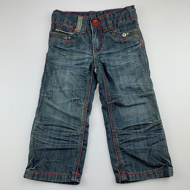 Boys Pumpkin Patch, blue denim jeans / pants, adjustable, GUC, size 2