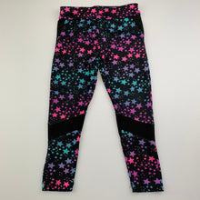 Load image into Gallery viewer, Girls B Collection, soft stretchy leggings, stars, FUC, size 2