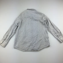 Load image into Gallery viewer, Boys Brooklyn Industries, grey lightweight cotton long sleeve shirt, GUC, size 5