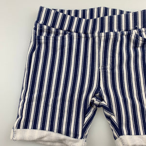 Girls Pumpkin Patch, soft stretchy striped shorts, adjustable, GUC, size 3