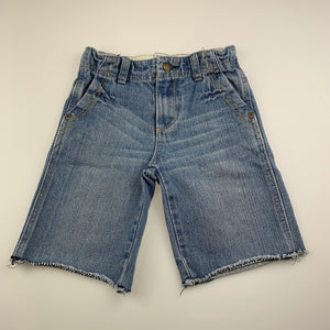 Boys JK Kidsgear, blue denim shorts, adjustable, GUC, size 4
