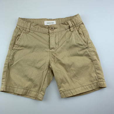 Boys Country Road, beige cotton chino shorts, adjustable, FUC, size 4
