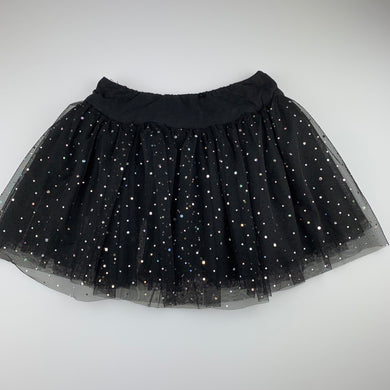 Girls Let's Dance, black tulle tutu dance skirt, elasticated, GUC, size 14