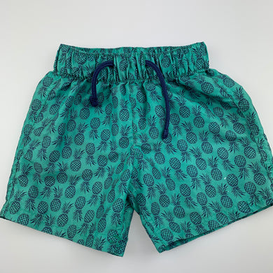 Boys B Collection, lightweight shorts / board shorts, pineapples, FUC, size 3