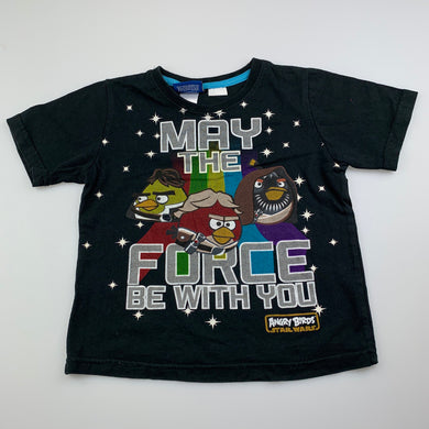 Boys Angry Birds, Star Wars cotton t-shirt / top, FUC, size 4
