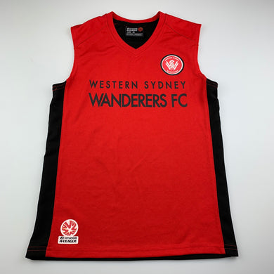 Boys A League Official, Western Sydney Wanderers FC jersey top, EUC, size 10