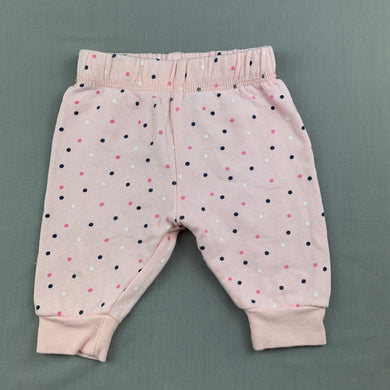 Girls Anko Baby, pink cotton fleece lined pants / bottoms, GUC, size 000