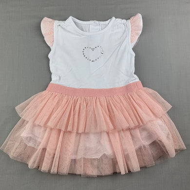 Girls Absorba, cotton lined tulle tutu party dress, GUC, size 12 months