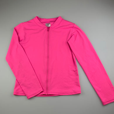 Girls Escargot, pink long sleeve rashie / swim top, FUC, size 12