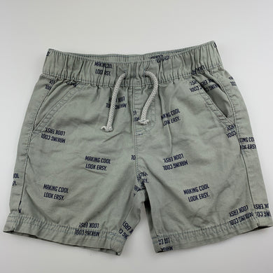 Boys B Collection, grey lighweight cotton shorts, GUC, size 3