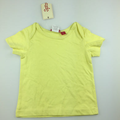 Unisex Sprout, yellow cotton t-shirt / tee / top, NEW, size 0