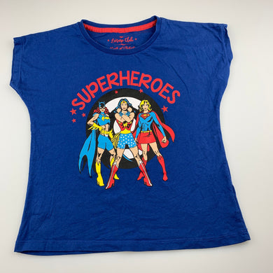 Girls Leisure Club, cotton Superheroes t-shirt / top, EUC, size 9-10